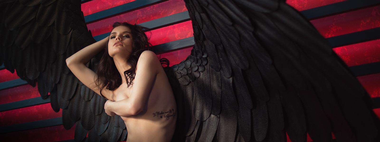 Фотосессия с крыльями